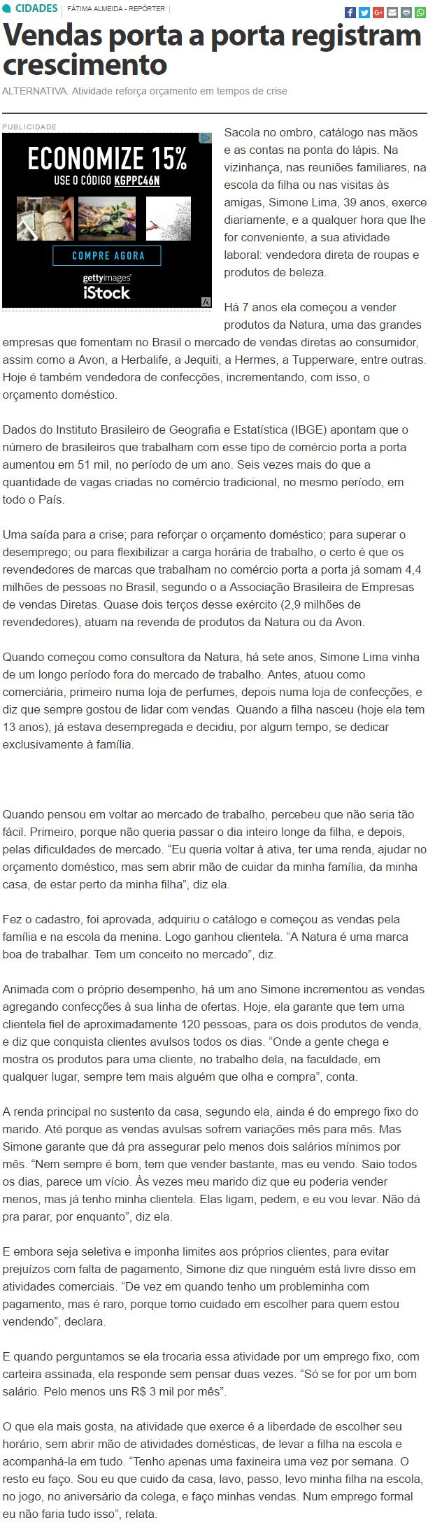 Vendas porta a porta registram crescimento   Gazeta de Alagoas   Evoluindo a informação